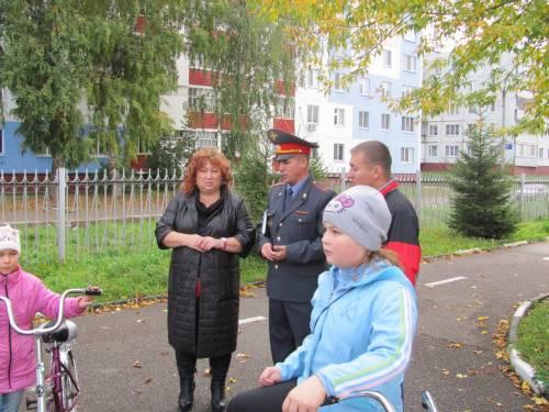 Детский автогородок посетил начальник ОГИБДД УМВД